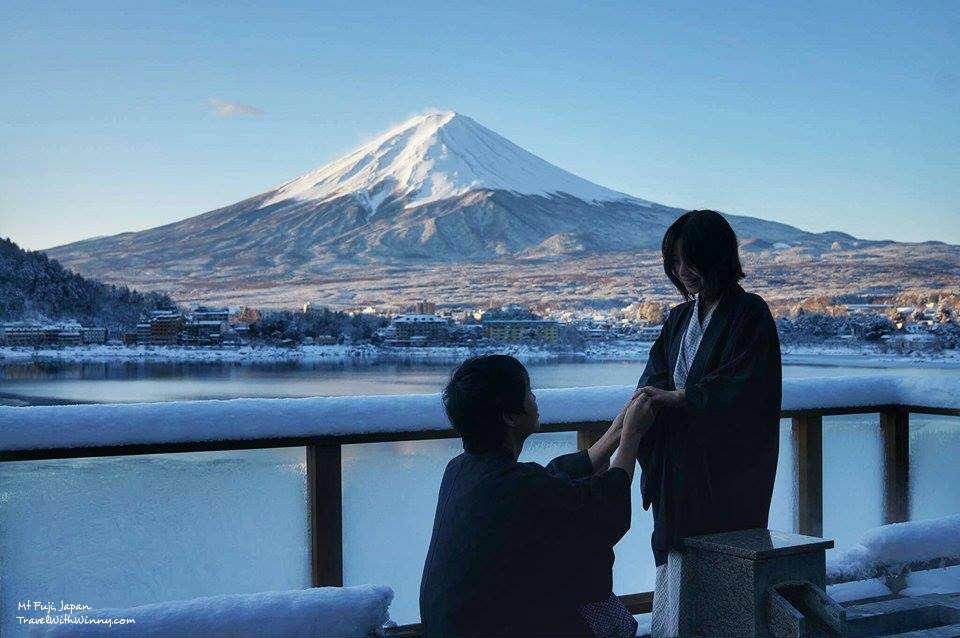 日本富士山求婚