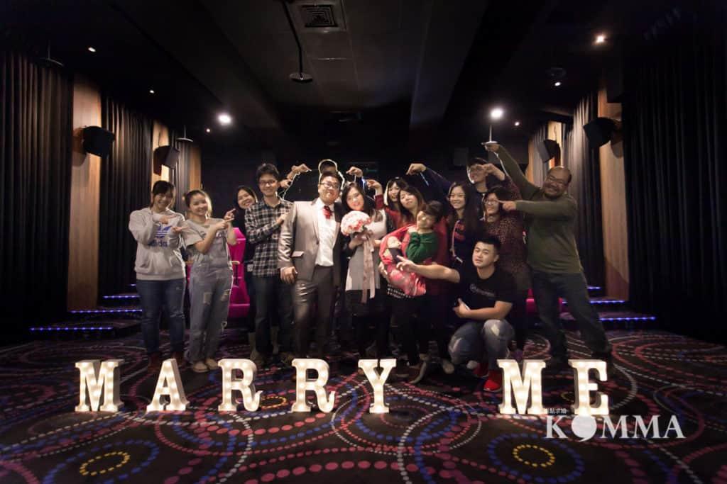 電影院求婚